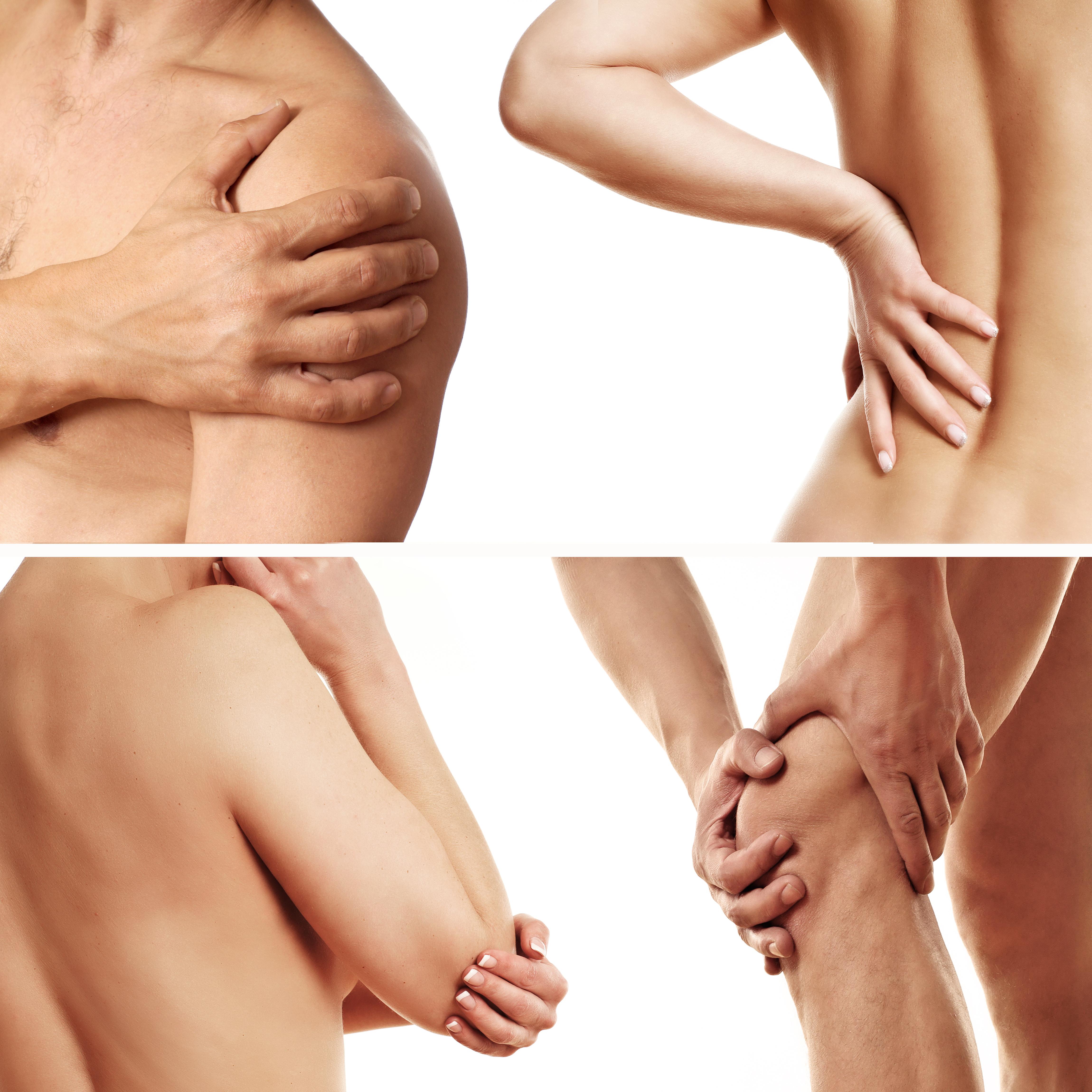 Hände fassen an schmerzende Gelenke Schulterschmerzen Rückenschmerzen EllbogenschmerzenKnieschmerzen Gelenkschmerzen